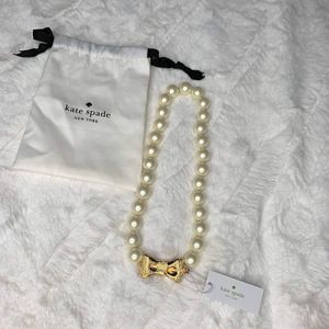 New Kate Spade All Wrapped Up Pearl Necklace